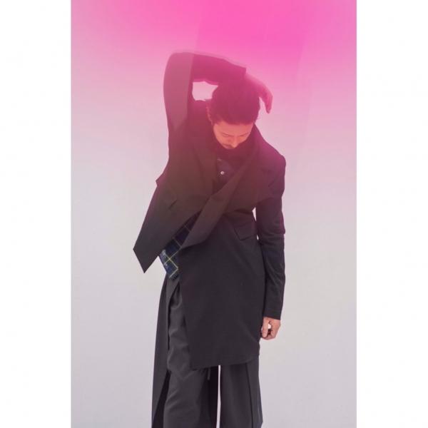 グラウンド ワイGround Y 混紡ウールアシンメトリージャケット 黒1【中古】 【レディース】