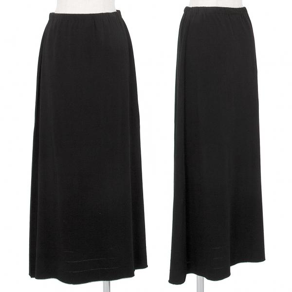 イッセイミヤケ エーポックISSEY MIYAKE A-POC 裾ラインストレッチAラインスカート 黒2【中古】 【レディース】