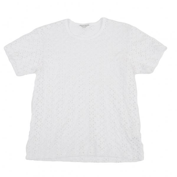 ローブドシャンブル コムデギャルソンrobe de chambre COMME des GARCONS コットンレースTシャツ 白M位【中古】 【レディース】