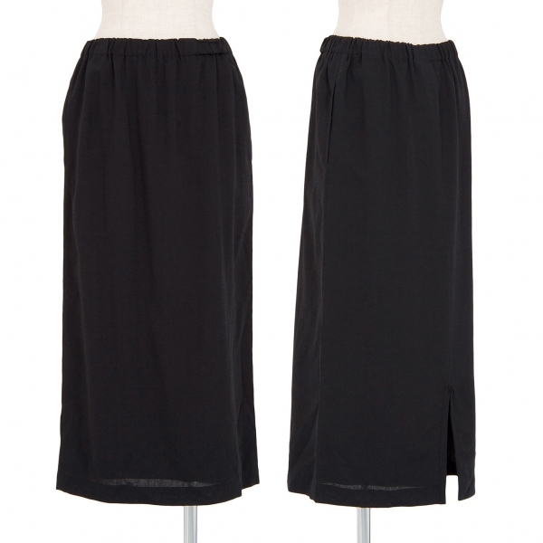 トリコ コムデギャルソンtricot COMME des GARCONS ウールAラインスカート 黒M位【中古】 【レディース】