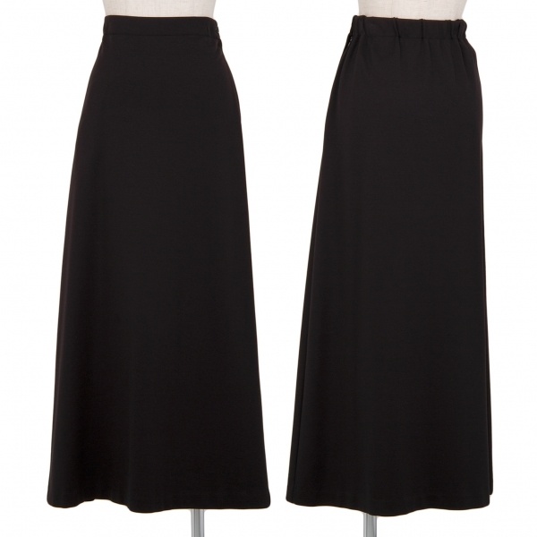 イッセイミヤケISSEY MIYAKE ジップポケットジャージースカート 黒2【中古】 【レディース】