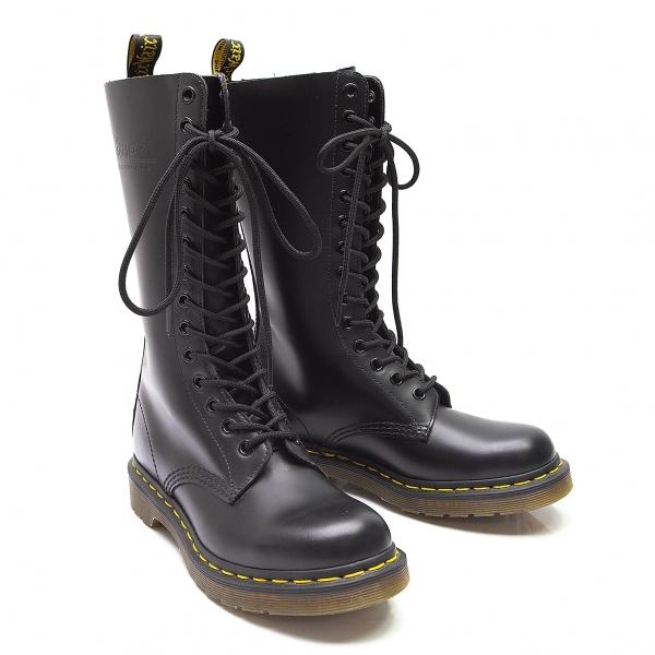 【レディース】 14ホール 黒UK4(22.5位) Martens ロングブーツ 新品!ドクターマーチンDr 11856