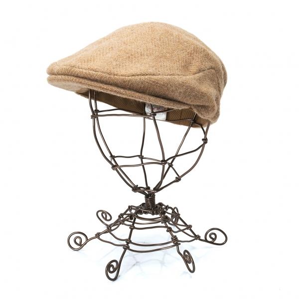 パパスPapas ツイードハンチング帽 モカL 販売期間 限定のお得なタイムセール メンズ 5%OFF 中古