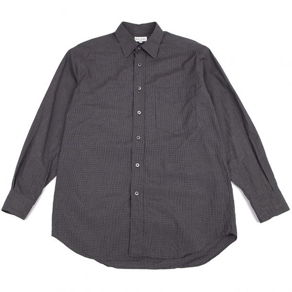 ポールスミスPaul Smith LONDON お買得 コットングリッドチェックシャツ 紺M 即納送料無料 中古 メンズ