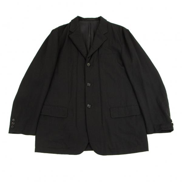 コムデギャルソン オムCOMME des GARCONS HOMME 黒M メンズ 贈答 中綿前立て切替ウールギャバジャケット 中古 再入荷/予約販売!