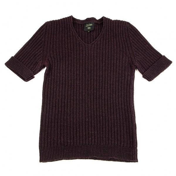 ジャンポールゴルチエ お見舞い 商店 オムJean Paul GAULTIER HOMME 中古 赤紫48 メンズ ローゲージリブニットTシャツ
