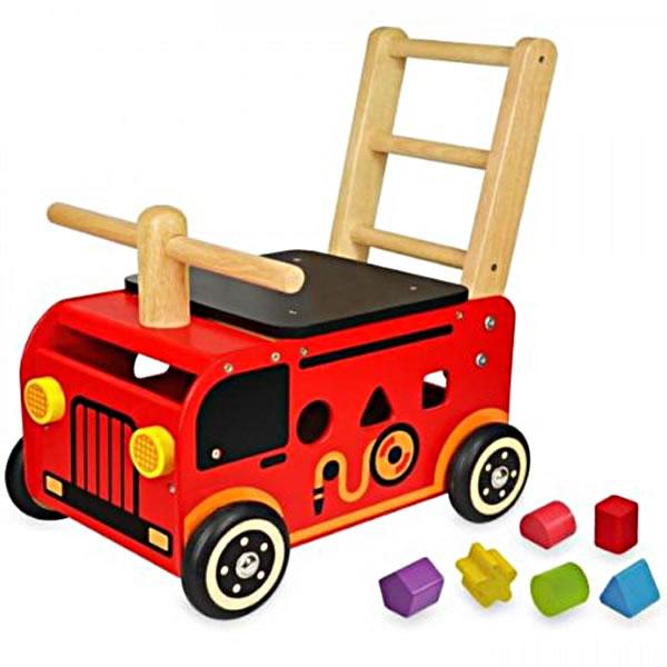 【送料無料】I'm TOY(アイムトイ) ウォーカー&ライド 消防車