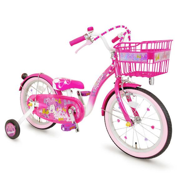 アイデス ミニーマウス ポッピンリボン18インチ ピンク 自転車【ラッピング不可商品】【送料無料 沖縄・一部地域を除く】