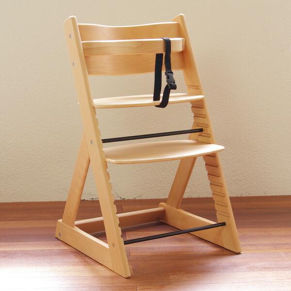 【送料無料】木製ベビーハイチェア ナチュラル【ラッピング不可商品】