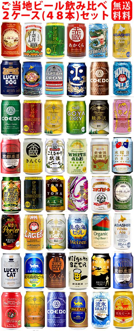 《送料無料》48種類セット 話題のご当地ビール・48本飲み比べセット クラフトビール 詰め合わせギフトセット 包装・熨斗無料