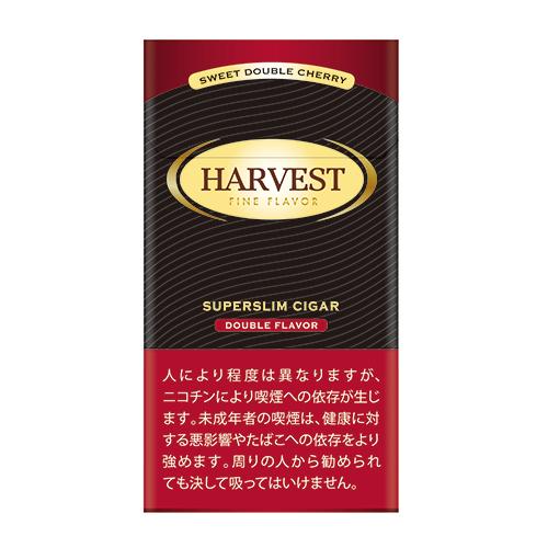 法律でタバコは初回に成人証明書の提出が必須です リトルシガー 箱買い 10個入 ハーベスト スーパースリム ダブルチェリー 赤 スイート系 リトルシガー系 20本入 オンラインショップ 未使用品