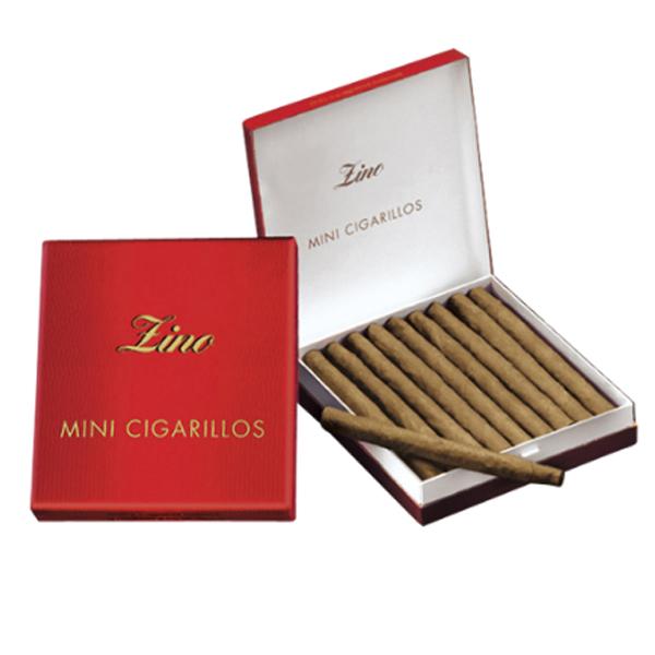 法律でタバコは初回に成人証明書の提出が必須です ドライシガー カートンパッケージ ジノ 贈り物 シガリロ ×5個 20本 ミニシガリロ系 低廉 ビター系 ジノ赤