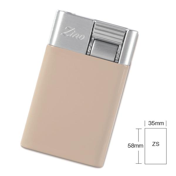 喫煙具・シガーライター ジノ ジェットフレーム式・ターボライター ZS 色:ベージュ(スモールタイプ)