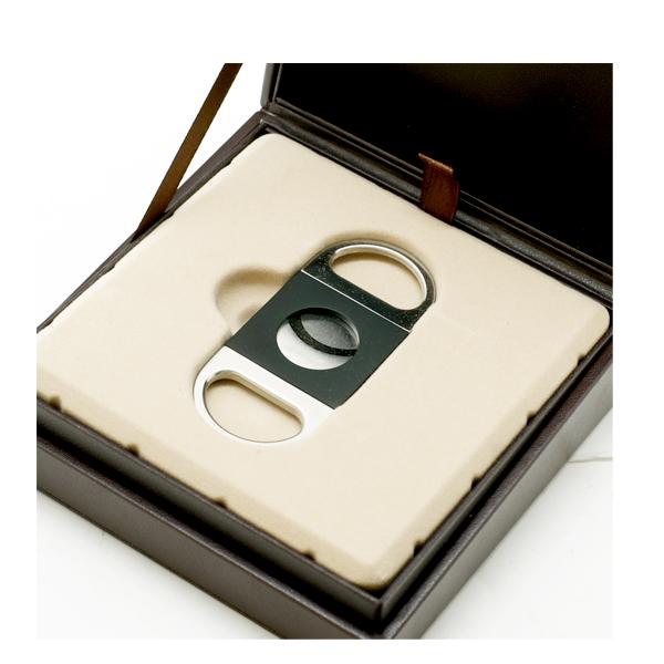 シガーカッター ギロチン式ダビドフ ダブルブレード<ブラック&シルバー> 限定モデル [ギロチン式] [ダブル刃]【送料無料】