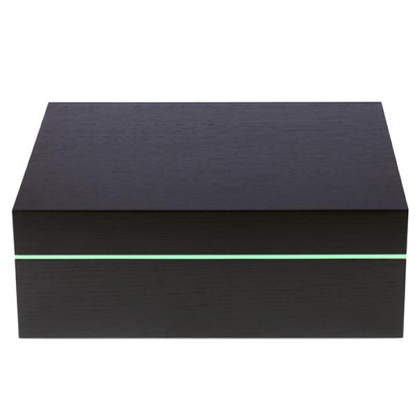 シガー用・ケース ジノ ヒュミドール ブラック&ミントライン Z80約70~80本用( W365xD240xH140 )