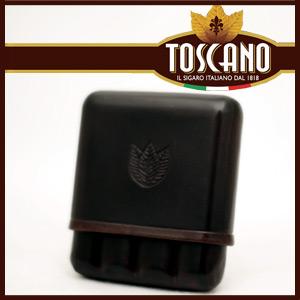 シガーグッズ・ホルダー シガー用・携帯シガーケース トスカーノ社 高級本革製 トスカネロ・4本用