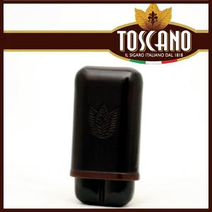 シガー用・ホルダー 携帯シガーケース トスカーノ社 高級本革製 トスカネロ・2本用