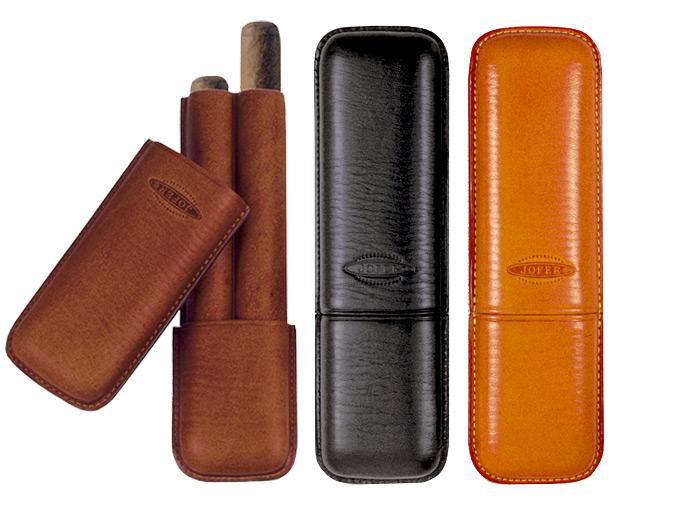 シガー用・ホルダー 携帯シガーケース ジョーファー社 高級本革製・コロナ(2本用) スペイン