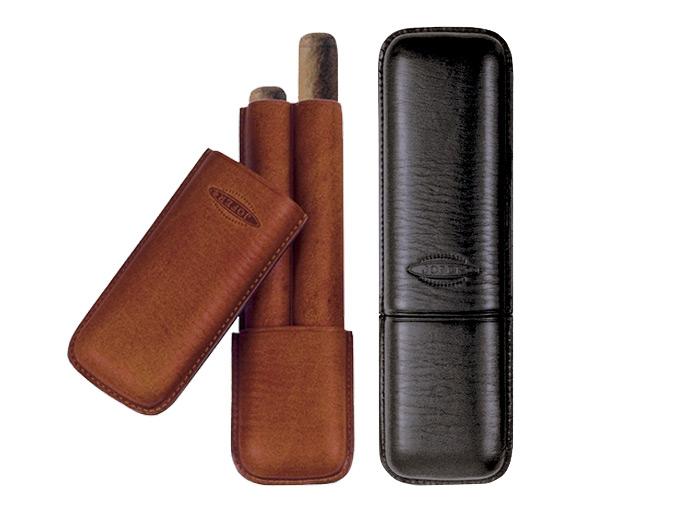 シガーグッズ・ホルダー シガー用・携帯シガーケース ジョーファー社 高級本革製・チャーチル(2本用) スペイン