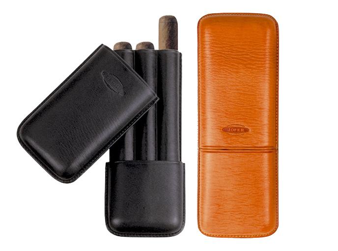 シガー用・ホルダー 携帯シガーケース ジョーファー社 高級本革製・チャーチル(3本用) スペイン