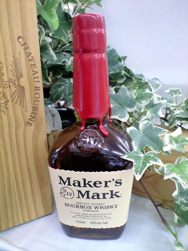 ウイスキー・バーボン<BR> メーカーズマーク バーボンウイスキー 45% 750ml<BR> シガーと一緒に楽しめます♪
