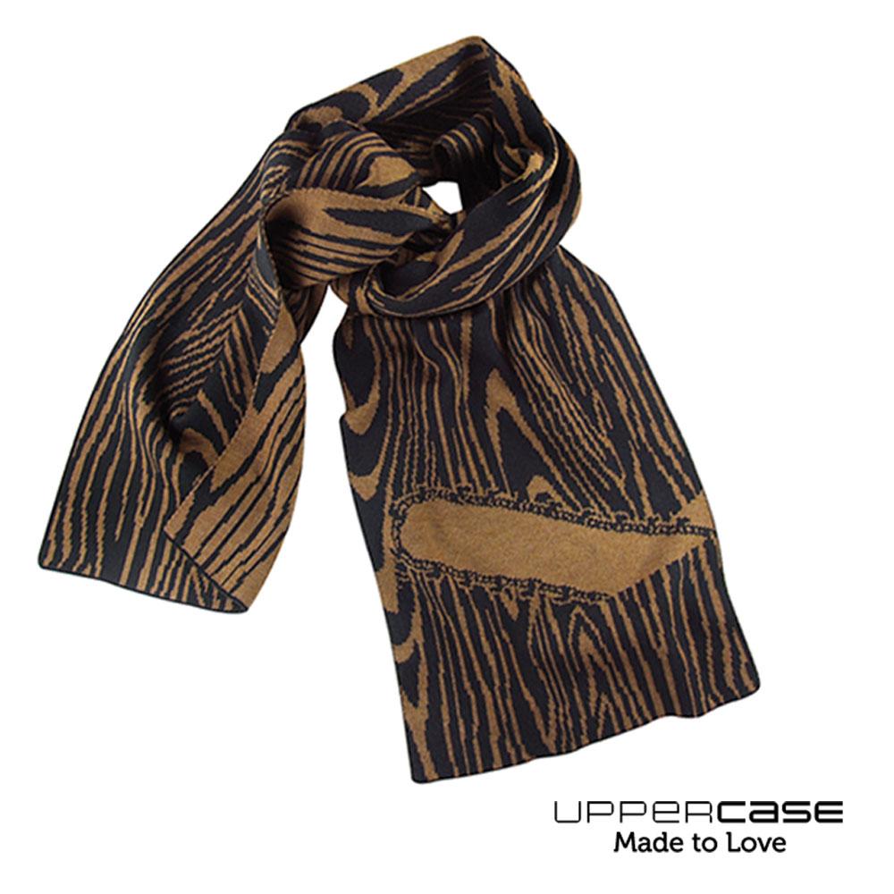 スカーフ ストール UPPERCASE メリノスカーフ First Cut ブラウン