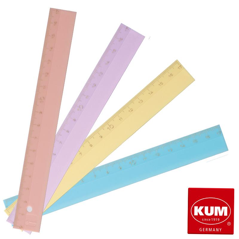 KUM 高価値 ルーラー 全品送料無料 パステルカラー