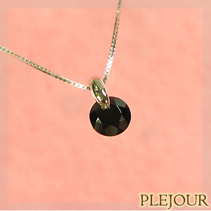 【10%OFF】ブラックスピネル・ペンダント・K18・一粒・ネックレス10P06Aug16