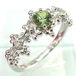 【10%OFF】デマントイド リング アンティーク K18 ダイヤモンド付  ラグジュアリーなアンティーク 指輪/ プラチナ変更可能