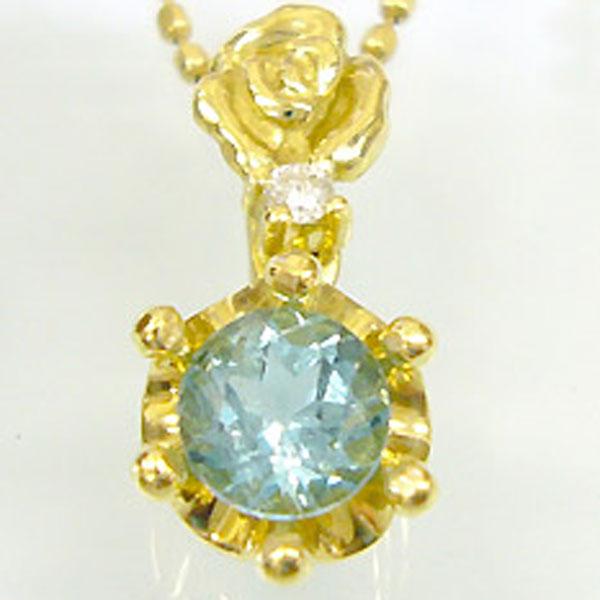 【10%OFF】アパタイトペンダント K18 薔薇 王冠 ダイヤモンド付 ネックレス バラとクラウンのコンビ ペンダント/ プラチナ変更可能