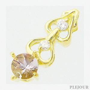 【10%OFF】モルガナイトペンダント K18 ハートモチーフ ダイヤモンド付 ネックレス 可憐なモダンスタイル ペンダント/ プラチナ変更可能