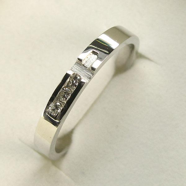 【10%OFFクーポン】5日23:59迄 プラチナリング ダイヤモンドリング クロス ダイアモンド約0.06ct 指輪