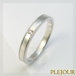 プラチナ900・ダイヤモンド・マリッジリング・結婚指輪・ダイヤ・リング・シンプル