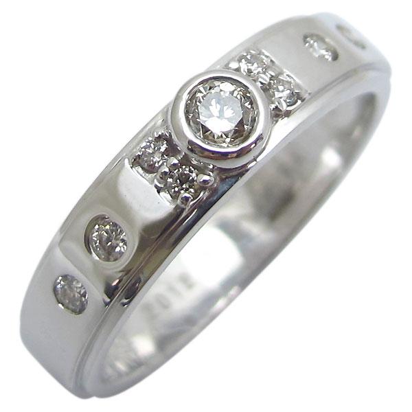 【10%OFFクーポン】5日23:59迄 鑑定書付き・ダイヤモンド・約0.10ct・ダイヤリング・K18・シンプル・指輪・リング
