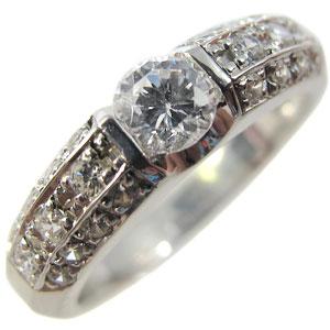 【10%OFFクーポン】5日23:59迄 ダイヤモンドリング:K18ゴールド:エンゲージリング:婚約指輪