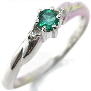 【10%OFF】1月1日00:00~ プラチナ リング エメラルド 指輪 シンプル