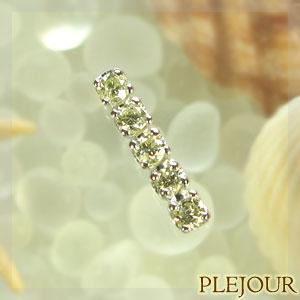 【10%OFF】4月誕生石 ダイヤモンドピアス シンプル ライン K10WG