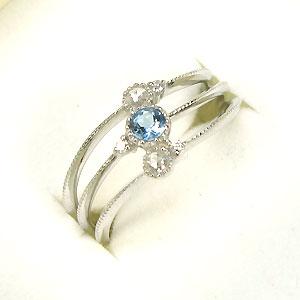 サンタマリア・ローズカットダイヤモンド・K18WG・3連・リング・指輪