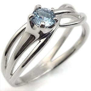 プラチナ・アクアマリン・リング・スターライン・pt900・指輪