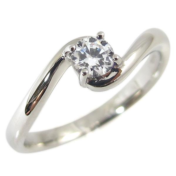 9日1:59迄 ダイヤモンド:リング:シンプル:K18:一粒:指輪