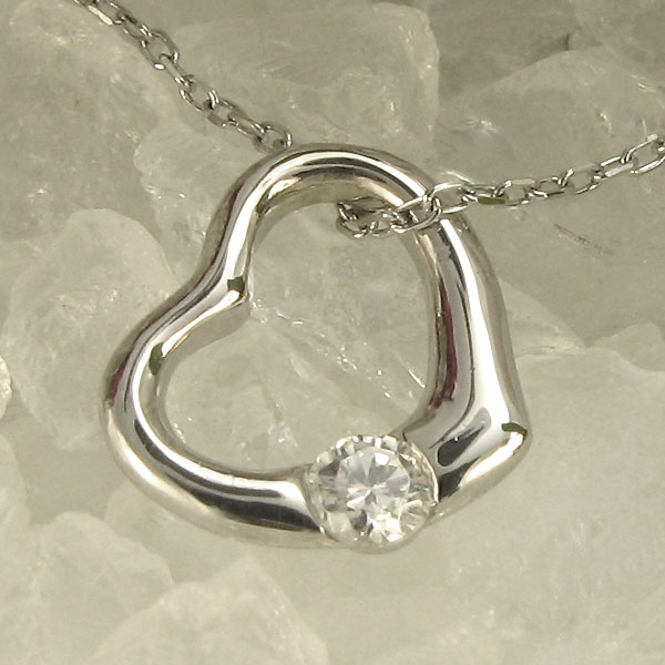 【10%OFF】4日20時~ オープンハート・ダイヤモンドネックレス・ハート・10金・母の日