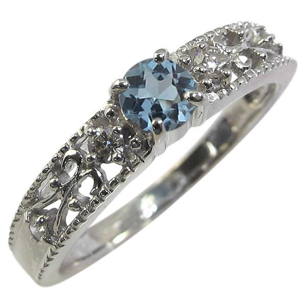 サンタマリア・リング・アンティーク・エンゲージリング・K18・婚約指輪