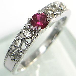 当季大流行 ルビー・リング・アンティーク・エンゲージリング・K18・婚約指輪, エベツシ c6e55f08
