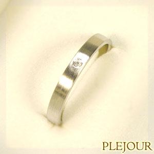 プラチナリング シンプル プラチナ900 マリッジリング 指輪
