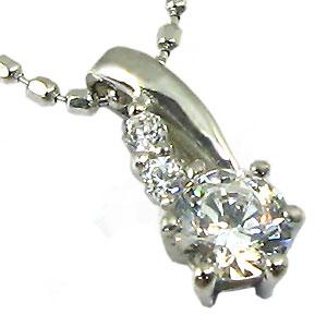 ダイヤモンド・ペンダント・プラチナ・シンプル・ネックレス・pt900・ダイアモンド