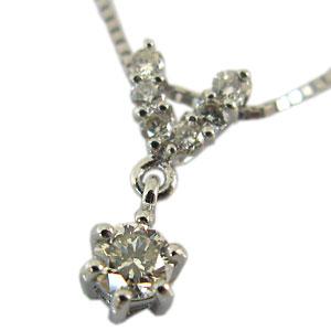 ダイヤモンド・ペンダント・10金・スイング・ネックレス