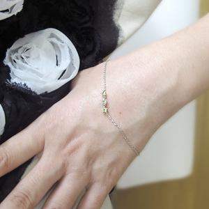 ブレスレット・プラチナ・トリロジー・8月誕生石・ペリドット・王冠wX8OPn0k