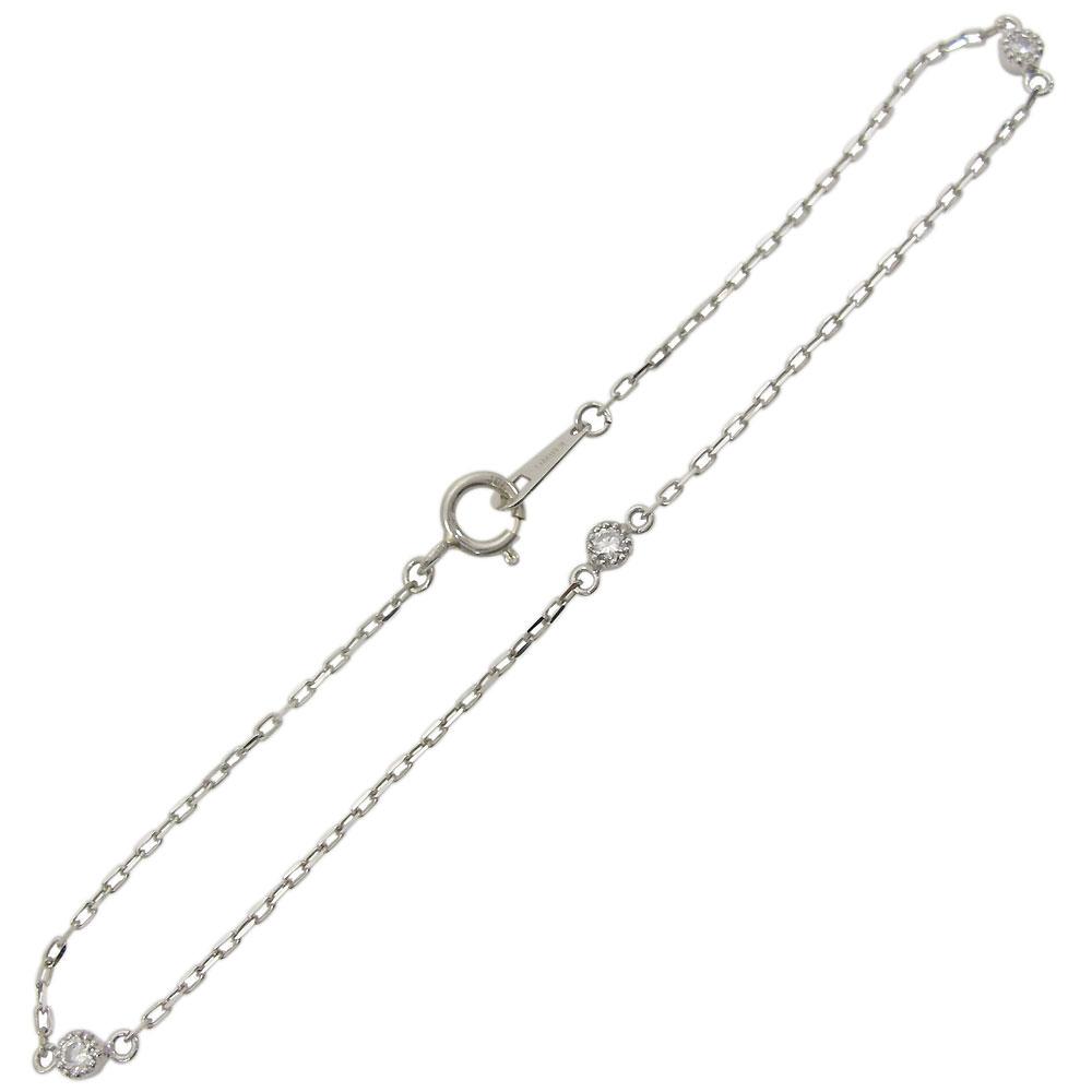 9日20時~ プラチナ アンクレット ダイヤモンド シンプル ブレスレット