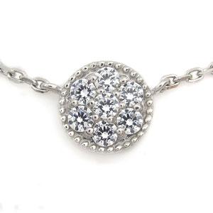 プラチナ ダイヤモンド ブレスレット パヴェ ブレス