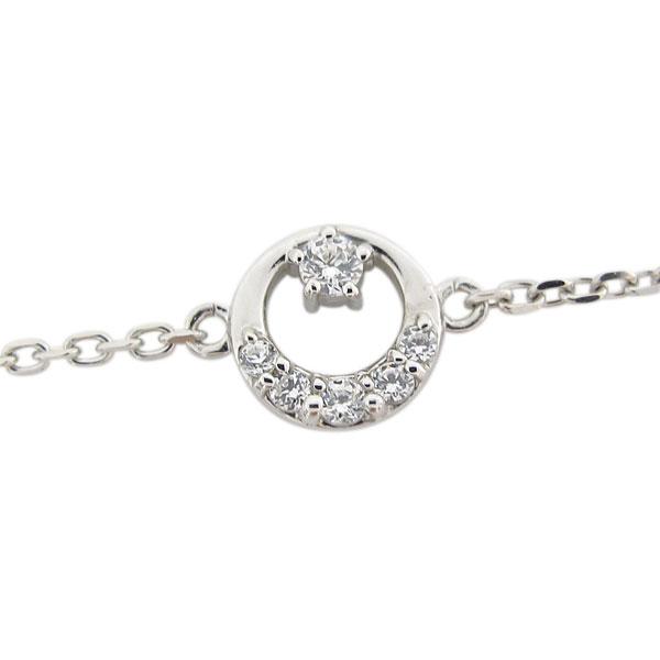9日20時~ ダイヤモンド 月モチーフ アンクレット 星 プラチナ ブレス